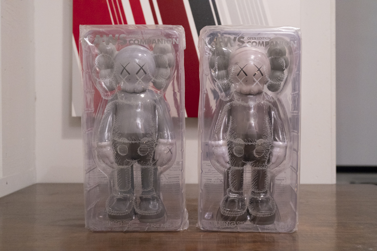 OriginalFake/ KAWS COMPANION OPEN EDITION / BROWN & GREY / 2体セット[未開封新品・正規品]