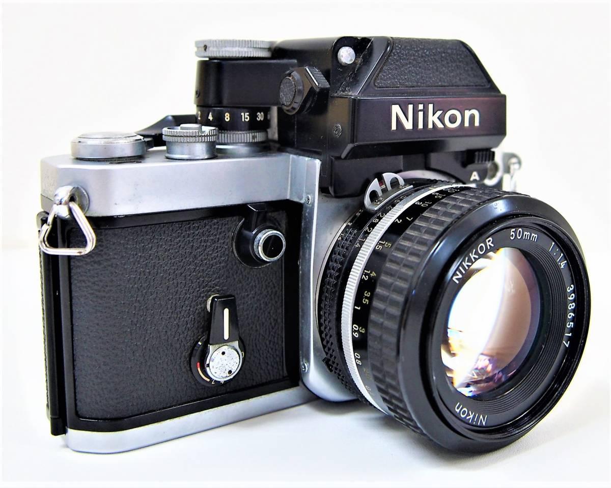 ⑤★中古品 Nikon F2 7859886 フィルムカメラ マニュアル レンズ Nikon NIKKOR 50mm 1:1.4 3986517 ニコン カメラ 1円スタート_画像2