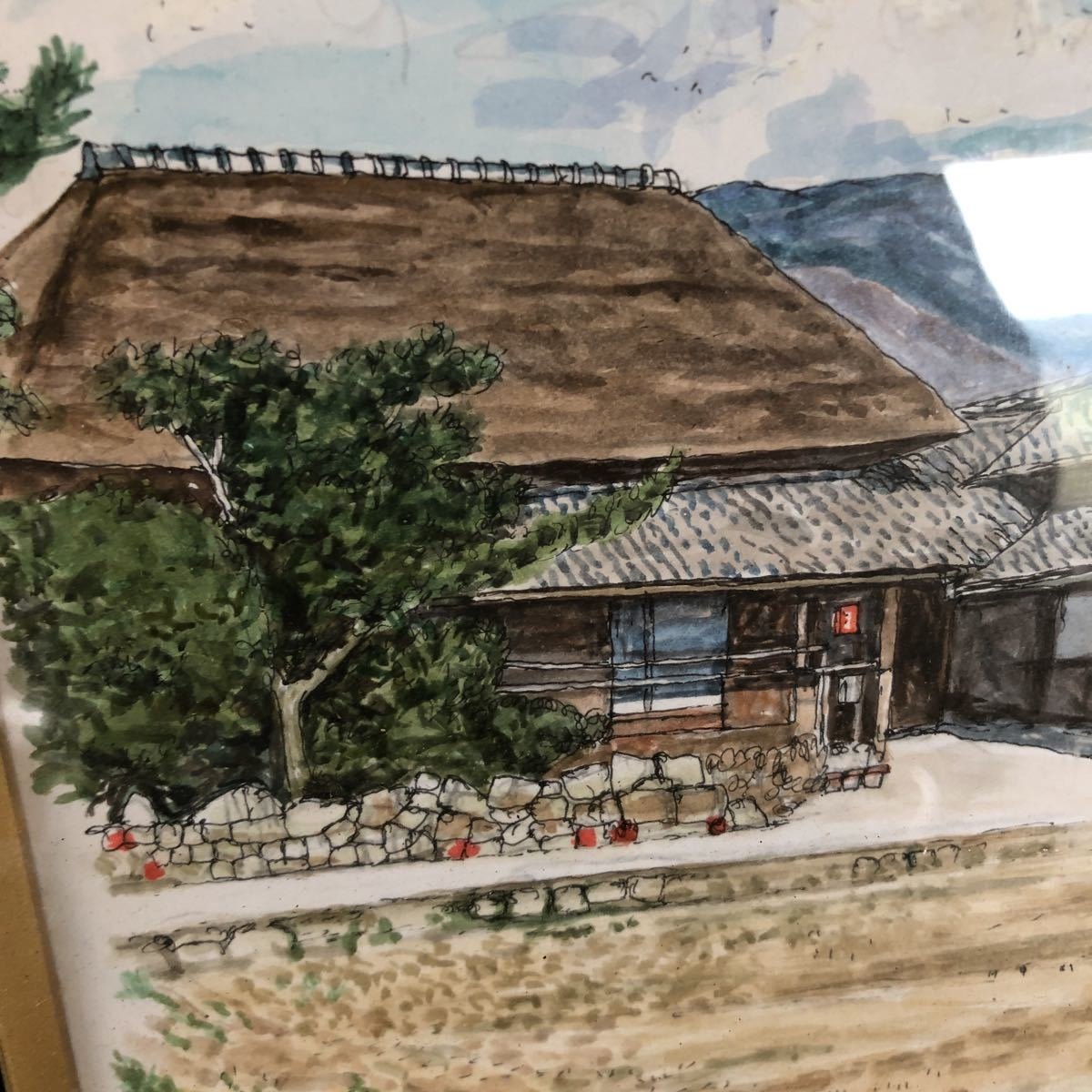 茅葺き屋根 絵画_画像3