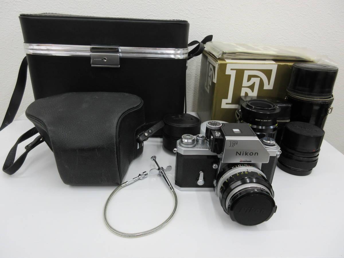 Nikon ニコン F フォトミック FTn レンズセット 元箱 取説 ハードケース付き 付属品有り フィルムカメラ