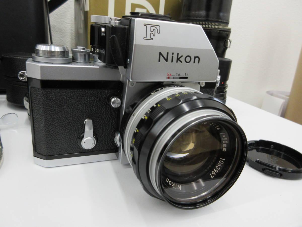 Nikon ニコン F フォトミック FTn レンズセット 元箱 取説 ハードケース付き 付属品有り フィルムカメラ_画像2