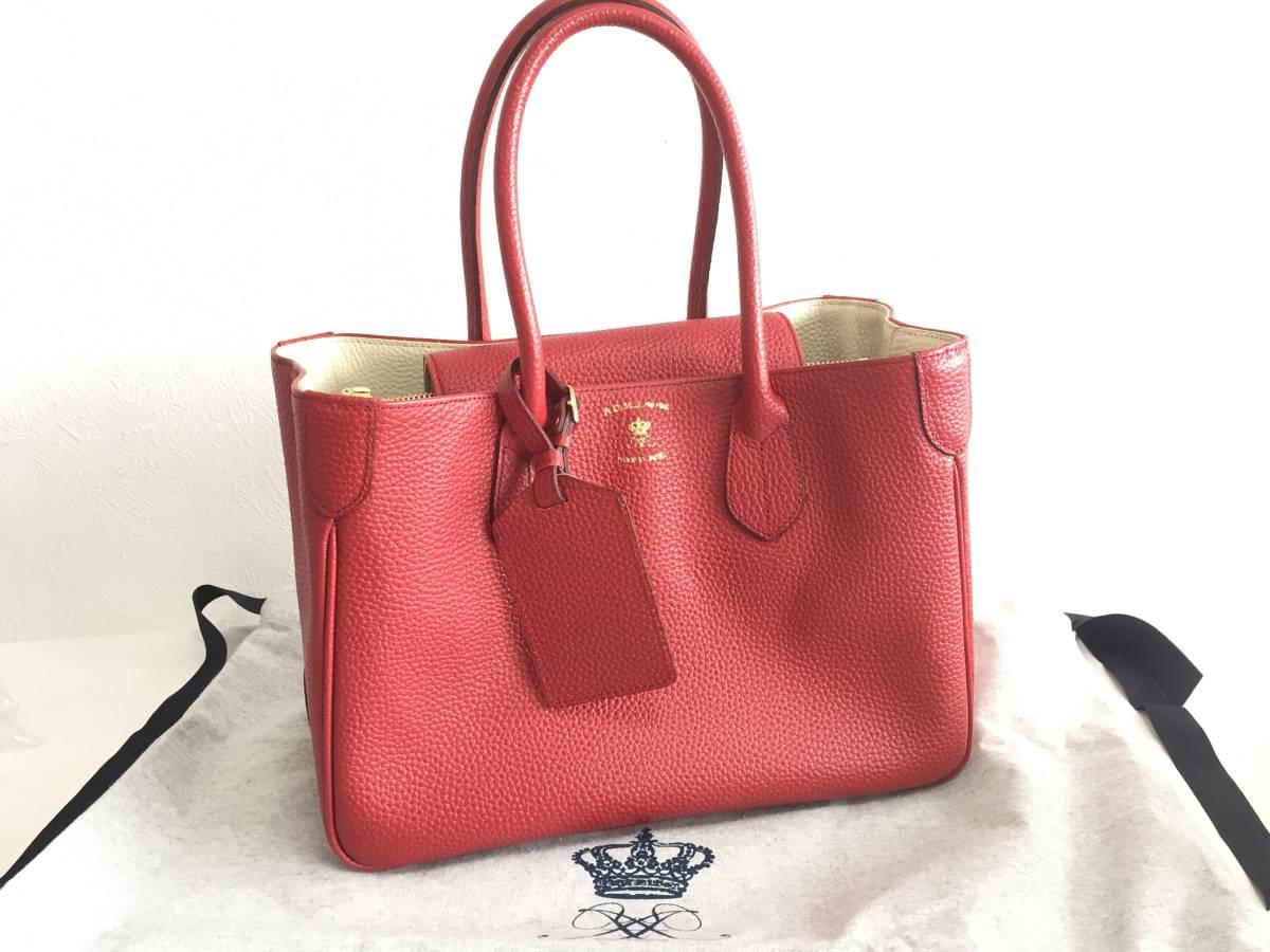 美品 ADMJ アクセソワ・ドゥ・マドモワゼル ハンドバッグ レザー 赤 レディース 使用1回 バッグ かばん 鞄 1902202