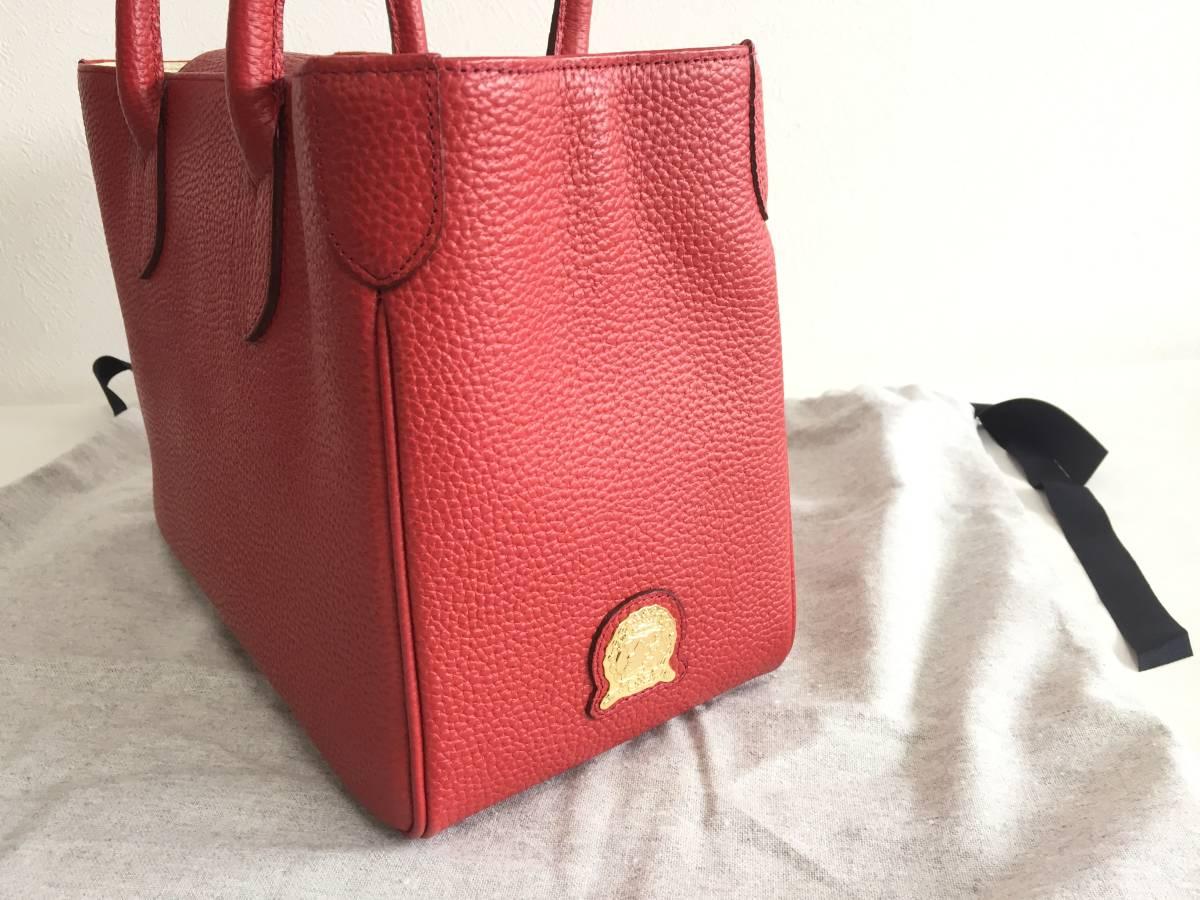 美品 ADMJ アクセソワ・ドゥ・マドモワゼル ハンドバッグ レザー 赤 レディース 使用1回 バッグ かばん 鞄 1902202_画像3