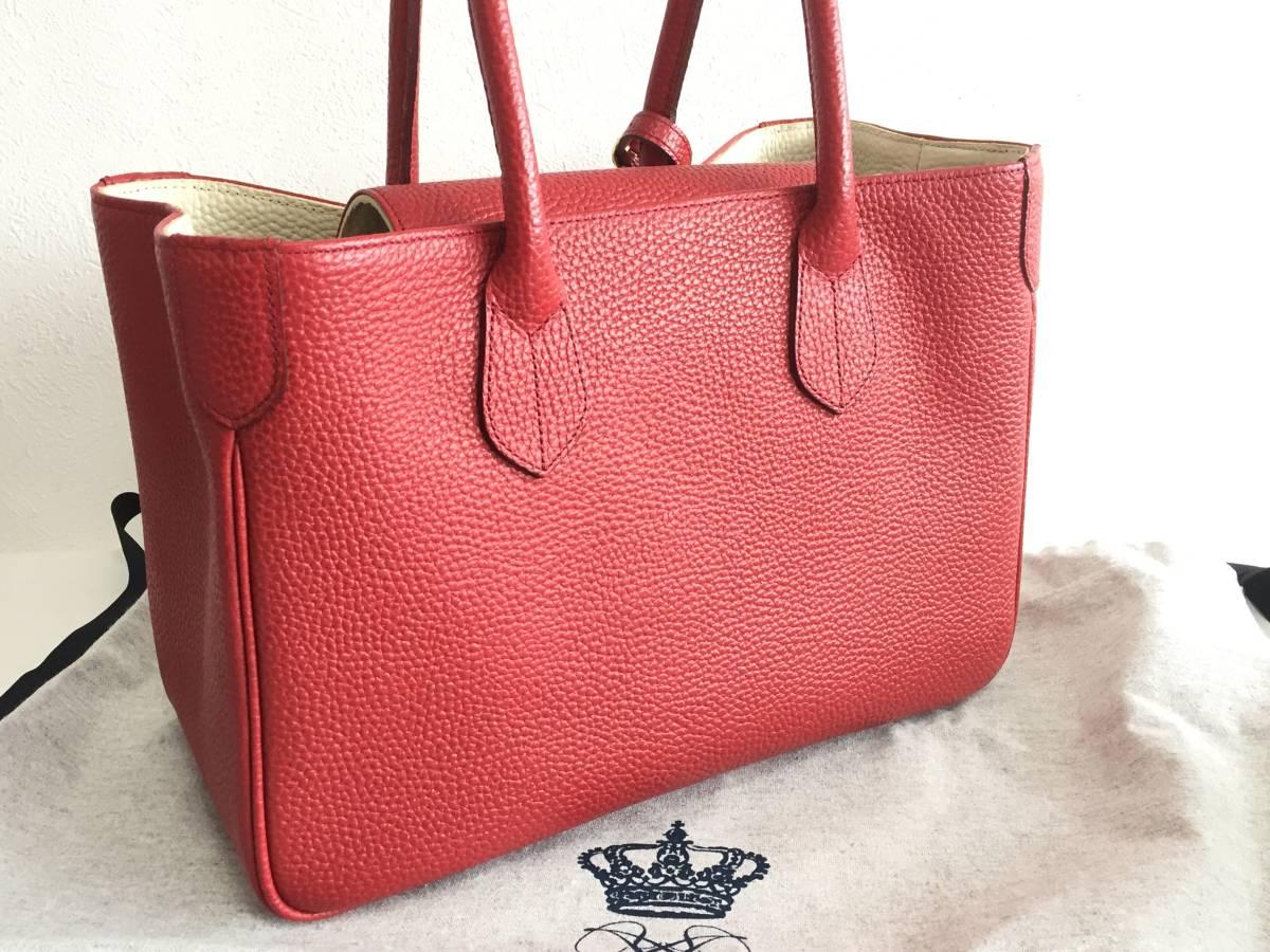 美品 ADMJ アクセソワ・ドゥ・マドモワゼル ハンドバッグ レザー 赤 レディース 使用1回 バッグ かばん 鞄 1902202_画像2