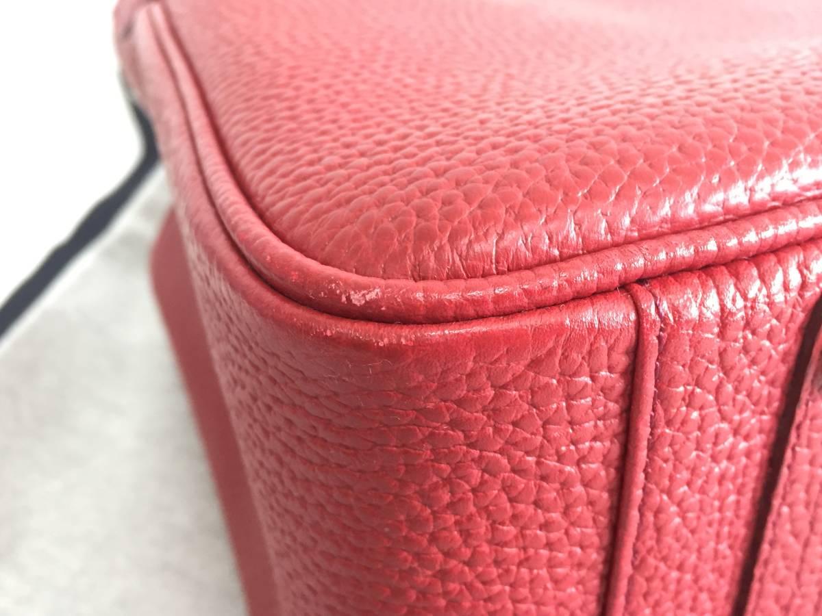 美品 ADMJ アクセソワ・ドゥ・マドモワゼル ハンドバッグ レザー 赤 レディース 使用1回 バッグ かばん 鞄 1902202_画像7