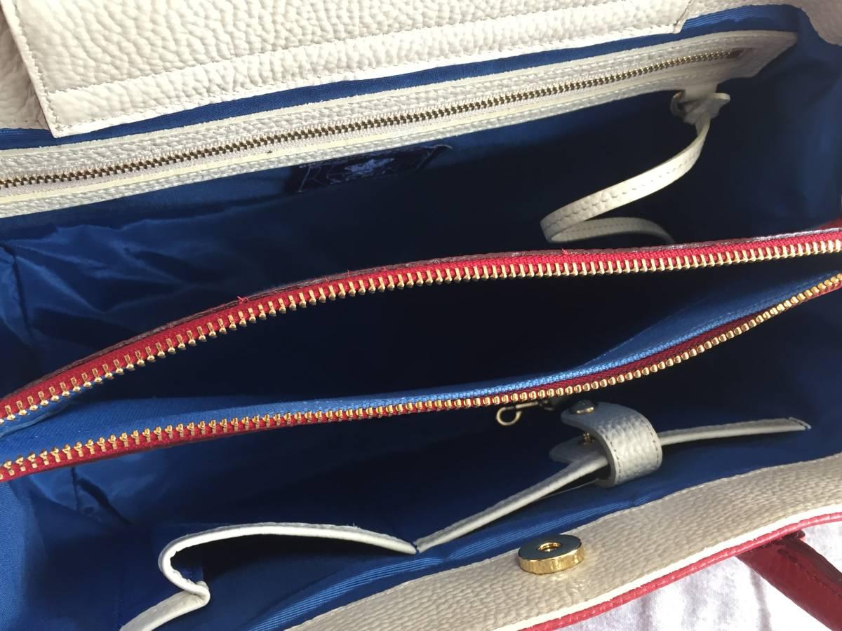 美品 ADMJ アクセソワ・ドゥ・マドモワゼル ハンドバッグ レザー 赤 レディース 使用1回 バッグ かばん 鞄 1902202_画像9
