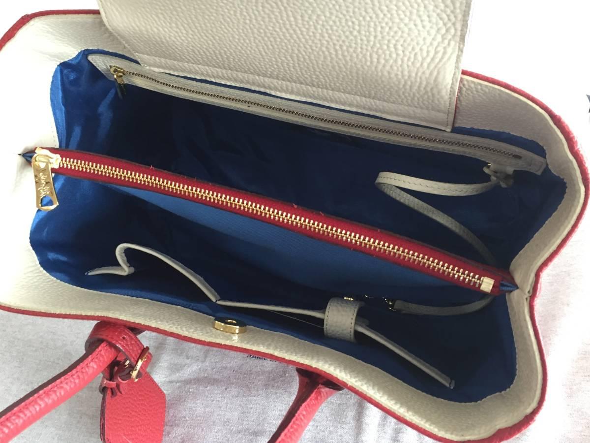 美品 ADMJ アクセソワ・ドゥ・マドモワゼル ハンドバッグ レザー 赤 レディース 使用1回 バッグ かばん 鞄 1902202_画像8