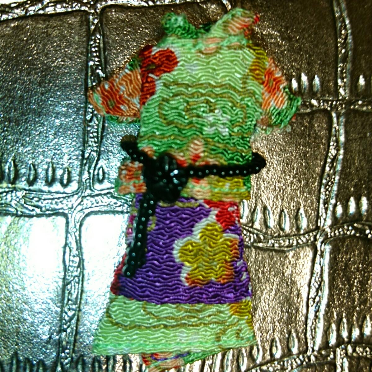 新品 プチブライス アウトフィット パーフェクトアジアンバタフライ ベルト 洋服 上下 ブライス ドール 服 和柄 沖縄 琉球 和服 和装 花柄_画像2