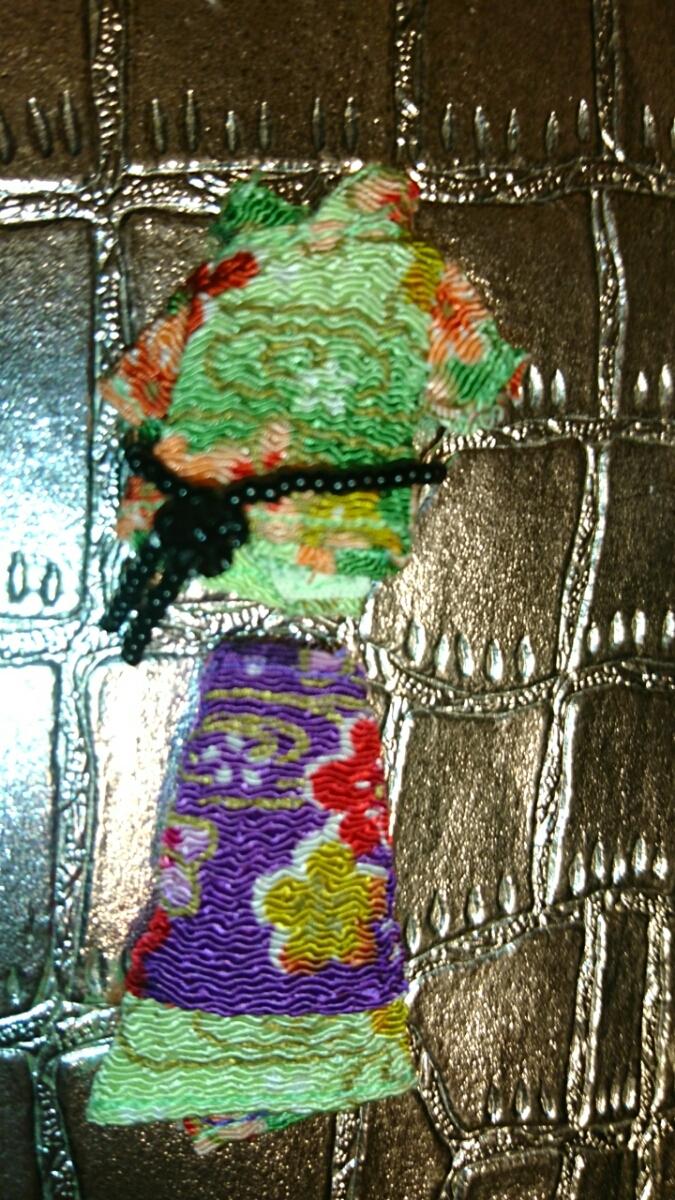 新品 プチブライス アウトフィット パーフェクトアジアンバタフライ ベルト 洋服 上下 ブライス ドール 服 和柄 沖縄 琉球 和服 和装 花柄_画像3
