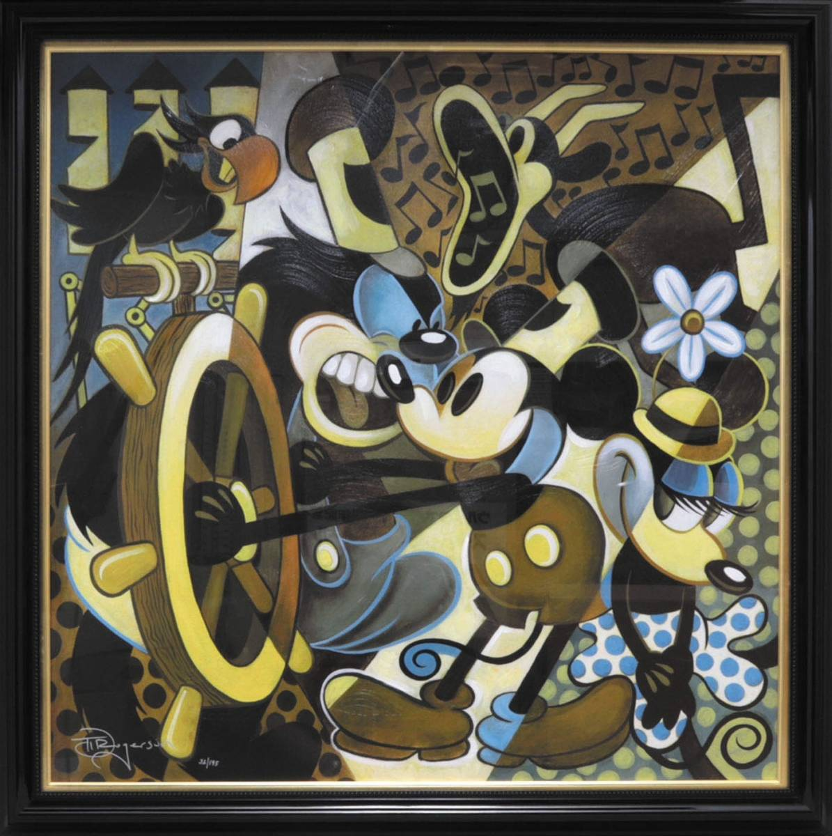 Mickey ジークレー Of Mice and Music / Tim Rogerson(検: セル画 原画 レイアウト 動画 資料 ディズニー ミッキーマウス Mickey Mouse )