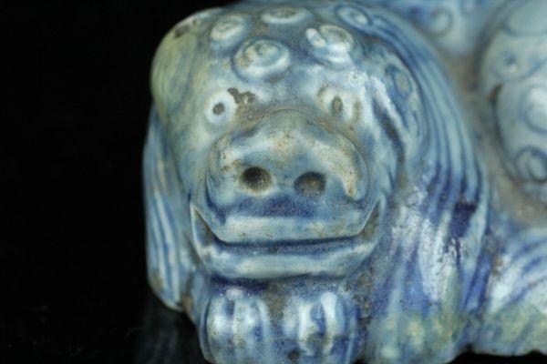 FEB078 李朝瑠璃釉獅子形水滴 書道具 朝鮮美術 李朝後期 コレクター放出品_画像8