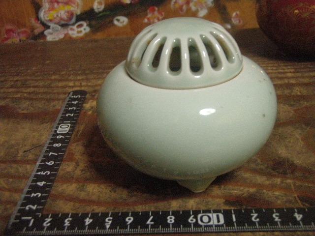 新品未使用保存品 香炉 青磁 伊万里焼 鍋島焼 大秀作 _画像4