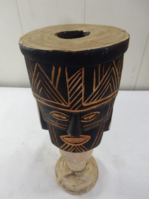 ケニア共和国 木製 手彫り工芸品 二面置物 コレクション インテリア飾り UR_画像2