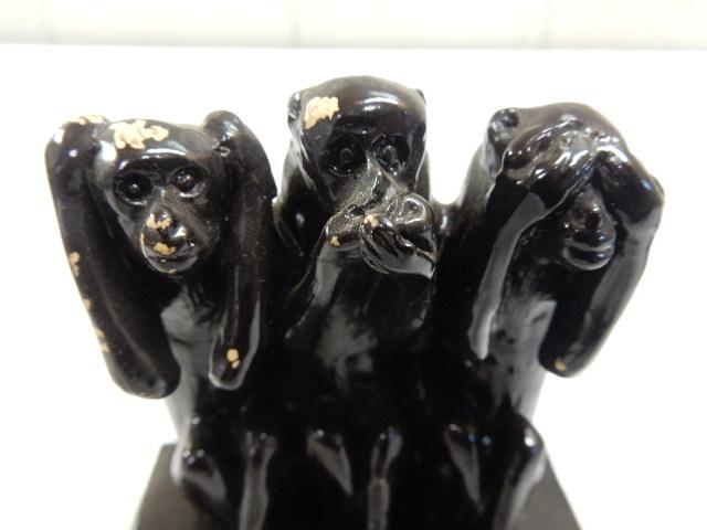 タイ王国産 樹脂製 2セット 3WISE MONKYS 3猿 見ザル 言わザル 聞かザル UR_画像3