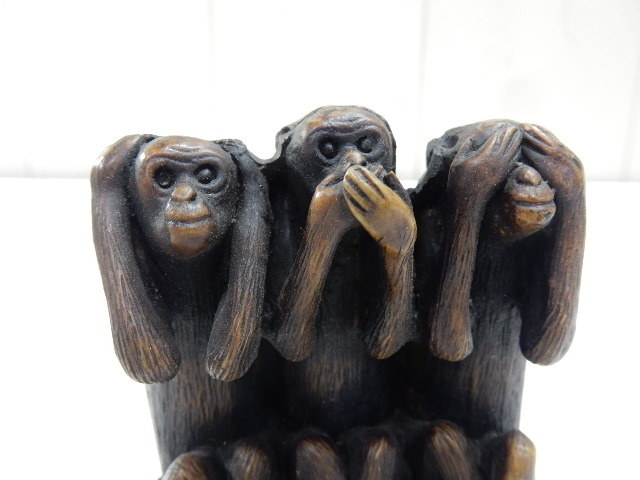 タイ王国産 樹脂製 2セット 3WISE MONKYS 3猿 見ザル 言わザル 聞かザル UR_画像5
