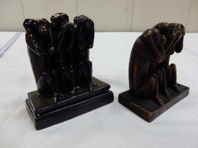 タイ王国産 樹脂製 2セット 3WISE MONKYS 3猿 見ザル 言わザル 聞かザル UR_画像8