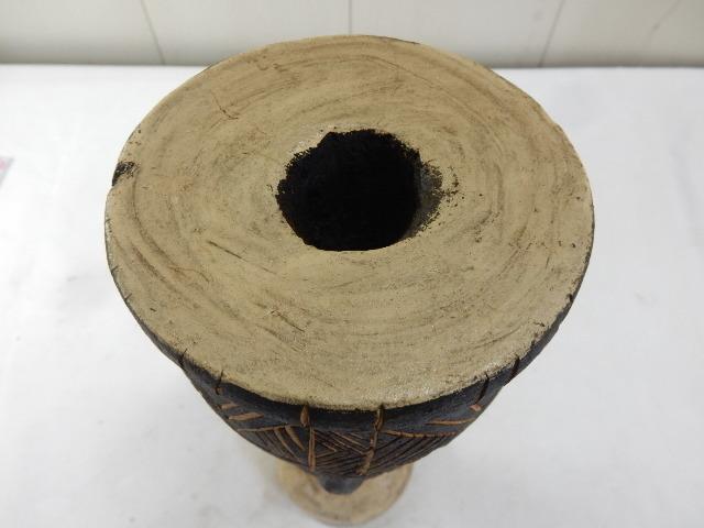 ケニア共和国 木製 手彫り工芸品 二面置物 コレクション インテリア飾り UR_画像5
