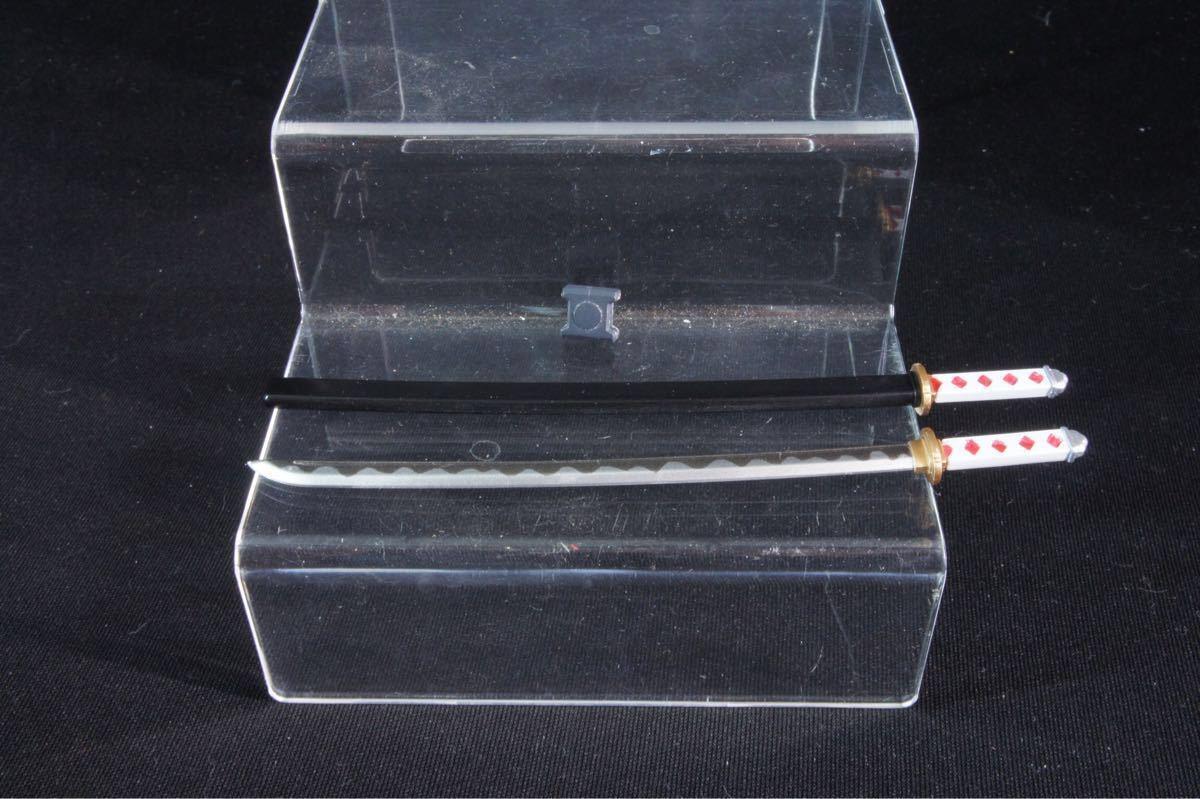 メガミデバイス用 刀 日本刀 武器 刃文再現 全塗装 完成品 フレームアームズガール 白柄 黒鞘_画像1