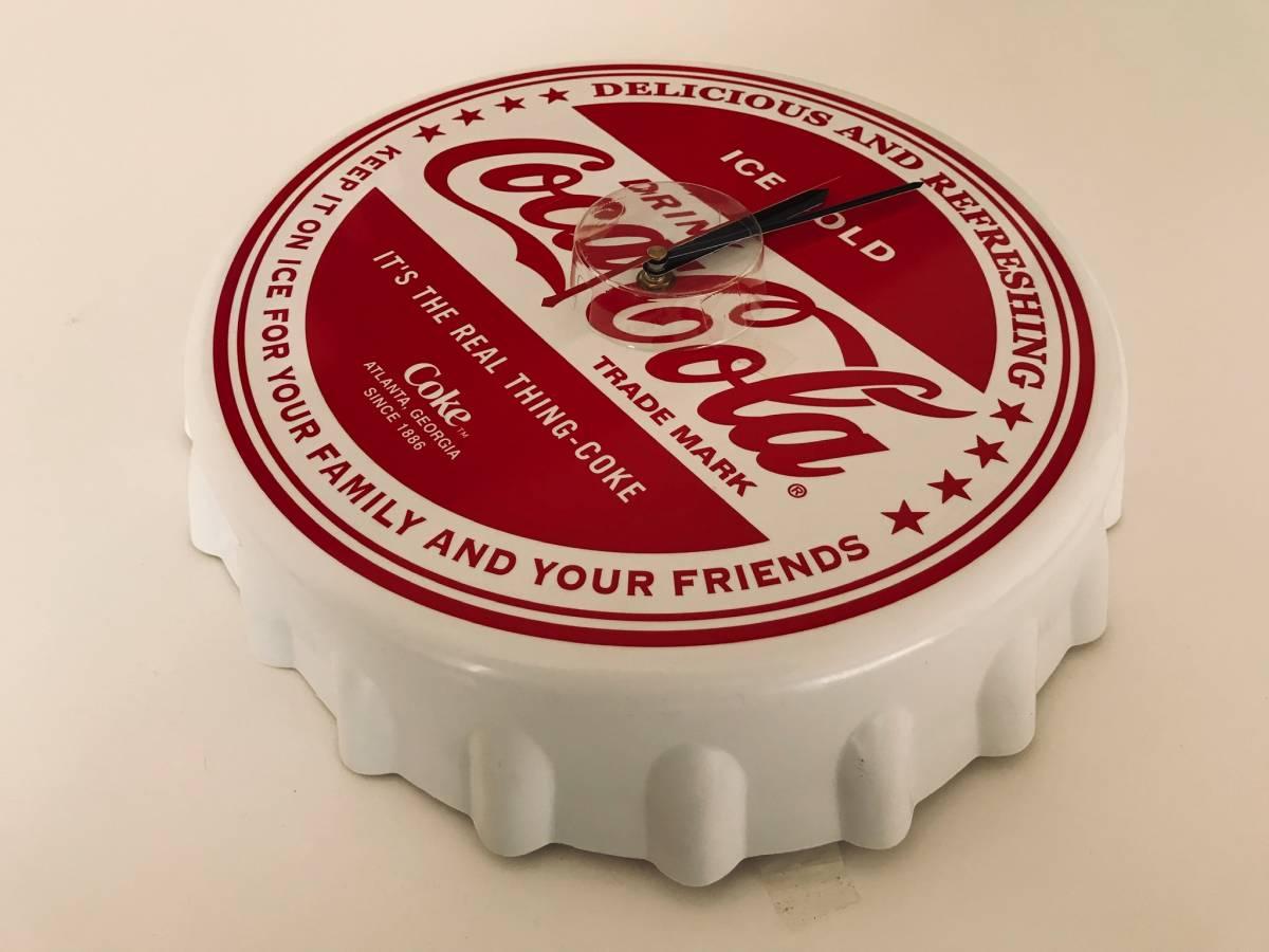 ★ coca-cola(コカコーラ)王冠型ウォールクロック/掛け時計_画像2