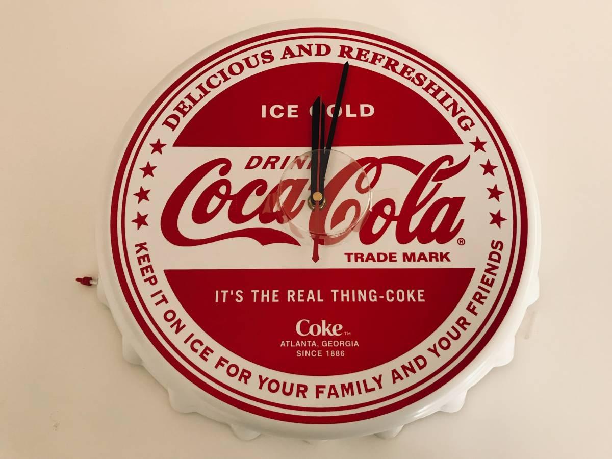 ★ coca-cola(コカコーラ)王冠型ウォールクロック/掛け時計_画像1