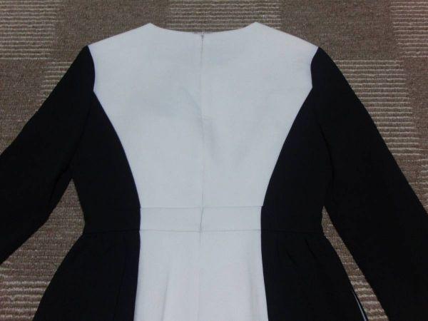 新品KateSpadeNewYork ケイトスペードニューヨーク 白黒 Tillie ワンピース US6号JP11号