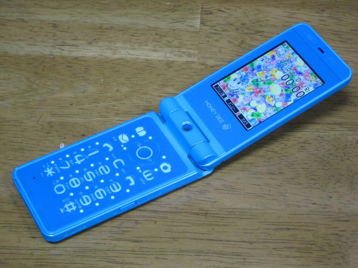 WX334K + 卓上ホルダ CH334K ブルー HONEY BEE BOX ウィルコム ワイモバイル willcom 京セラ PHS_画像2