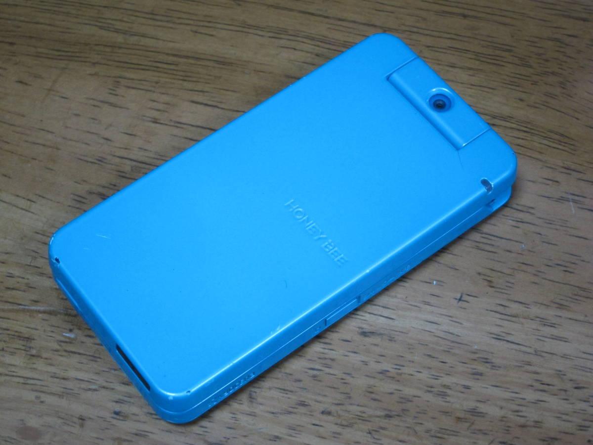 WX334K + 卓上ホルダ CH334K ブルー HONEY BEE BOX ウィルコム ワイモバイル willcom 京セラ PHS_画像4