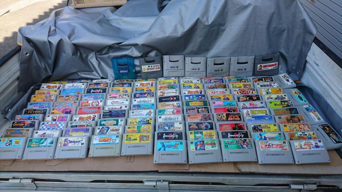 Nintendo SFC スーパーファミコンソフト120本まとめ売り 任天堂 マリオ ロックマン ドラ