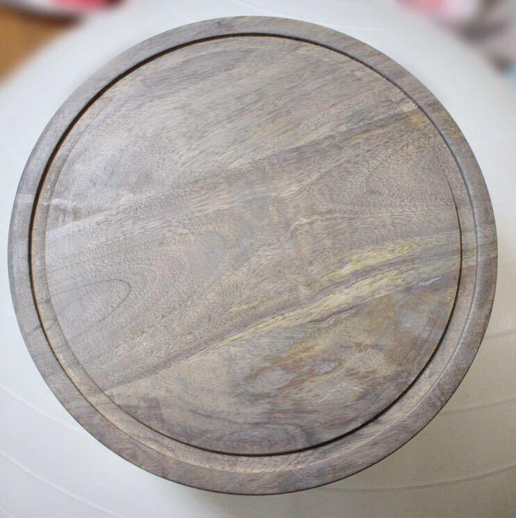 ケーキドーム ガラス製 木製 送料無料 新品未使用 イギリス直輸入 ガラスドーム 大きいサイズ 直径25cm シルバー系 おしゃれ 北欧 プレート_画像5