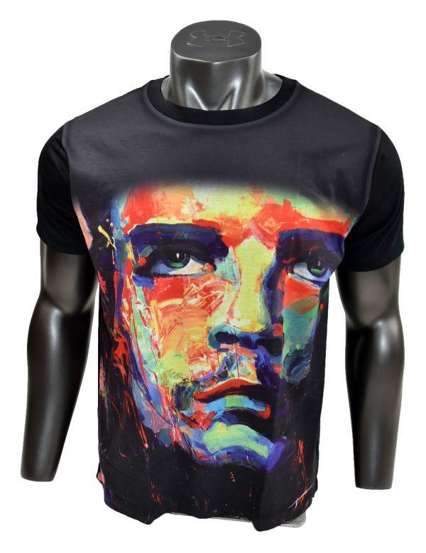 ■ボブ・マーリー(Bob Marley)フェイスTシャツ Mサイズ 黒/ブラック レゲエ カラフル プリント フィットデザイン 半袖 丸首■T-shirt_画像5