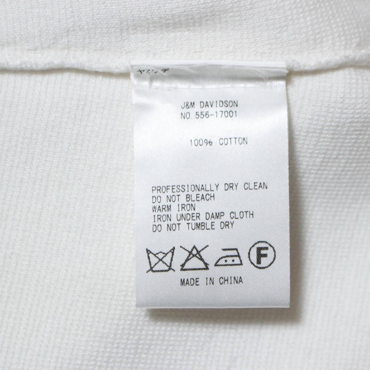 美品* J&M DAVIDSON ジェイアンドエムデヴィッドソン 参考価格5.7万 ボーダー柄ノースリーブワンピース ホワイト×ピンク Sサイズ 綿100%_画像5