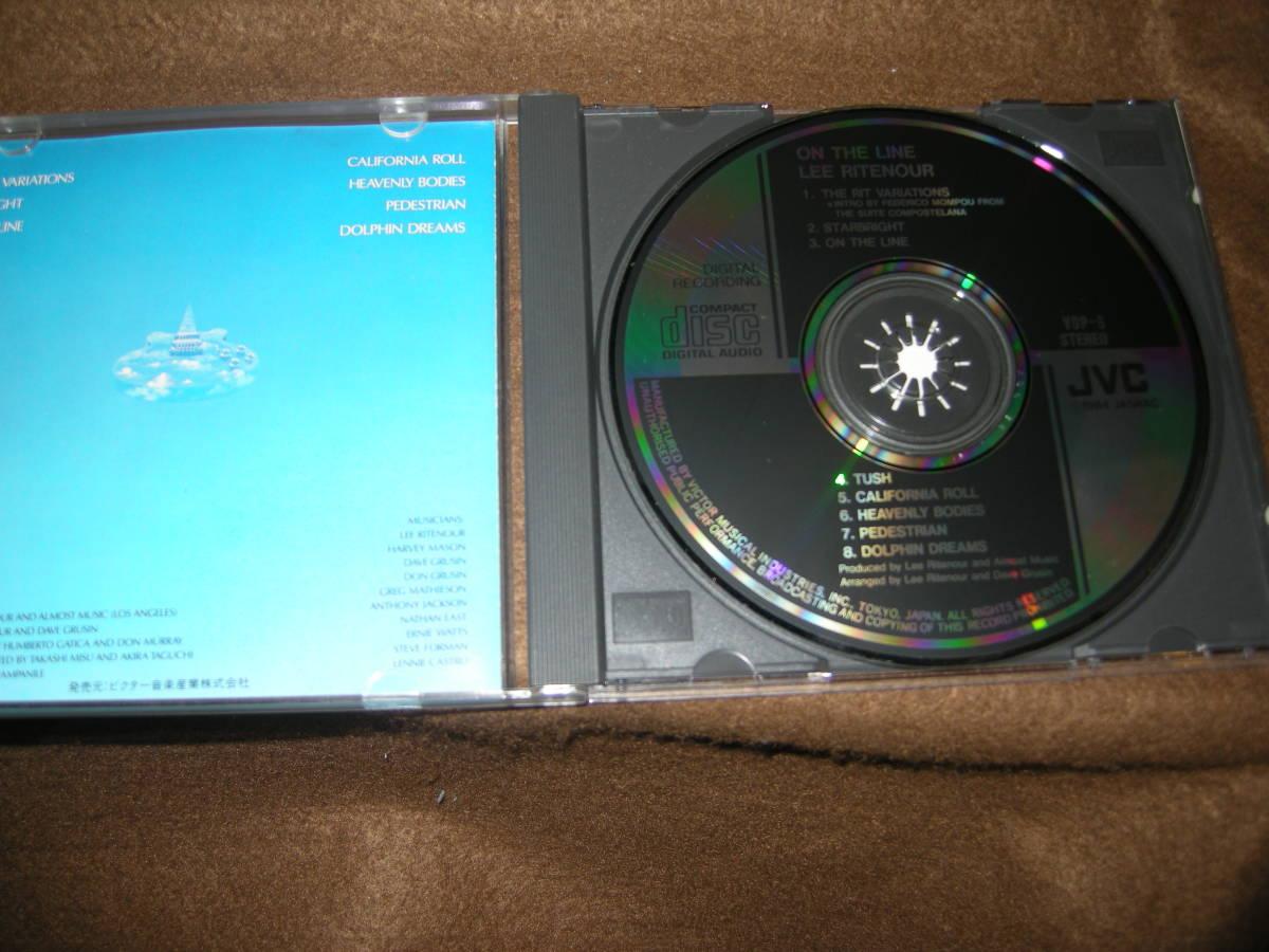 ③即決!国内盤CD! CD リーリトナー(LEE RITENOUR)  オン・ザ・ライン_画像3