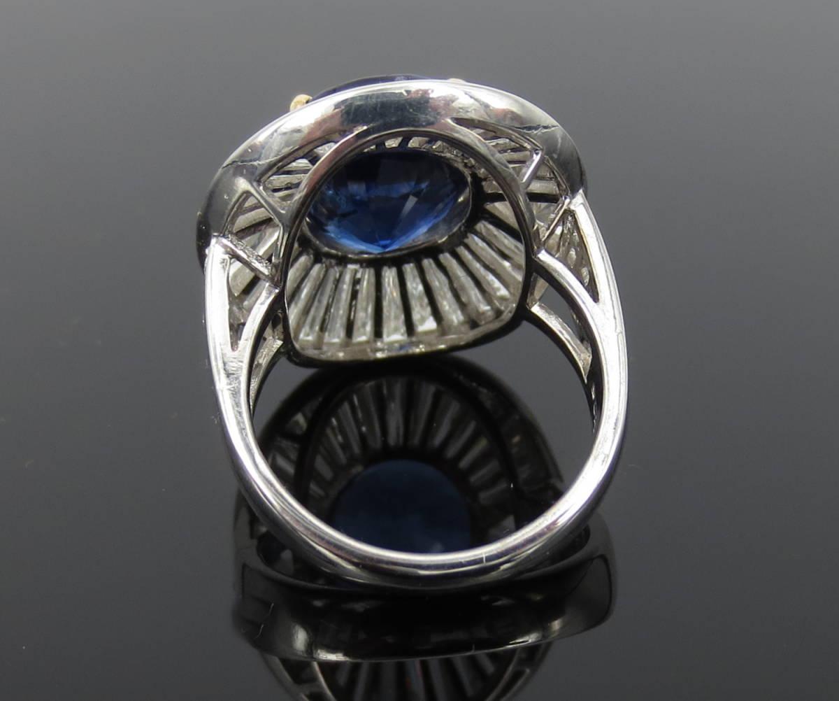 ◆ロイヤルブルー◆存在感抜群《15ct ダイヤモンド&セイロン・サファイヤ》プラチナ&K18リング指輪_画像4