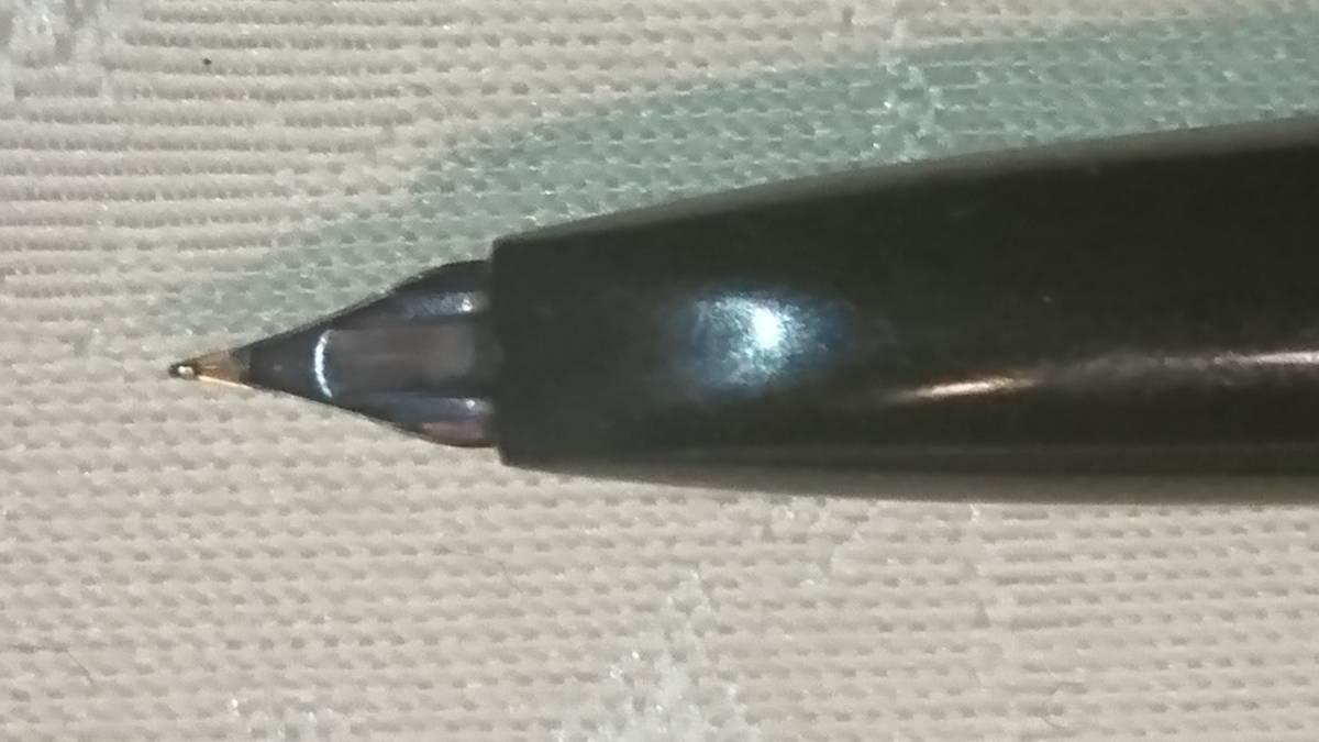 即決 デッドストック 1960年代 地球マーク プラチナ万年筆 P66-100 ペン先14K ブラックボディ カートリッジ式 筆記未確認 送料無料_画像7