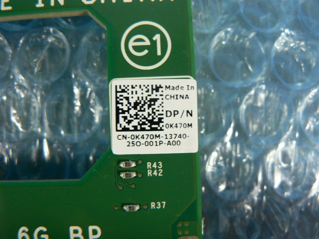 1FAZ // Dell PowerEdge T410 の ハードディスク(HDD)バックパネル (0K470M 0X230G) 3.5インチ 6スロット // 在庫2_画像2