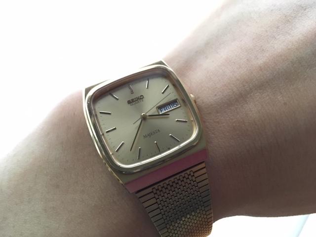 KK237 良品 稀少 レア ヴィンテージ SEIKO/セイコー MAJESTA デイデイト SGP ゴールド 9063-5010 純正ブレス有 クオーツ メンズ 腕時計_画像1