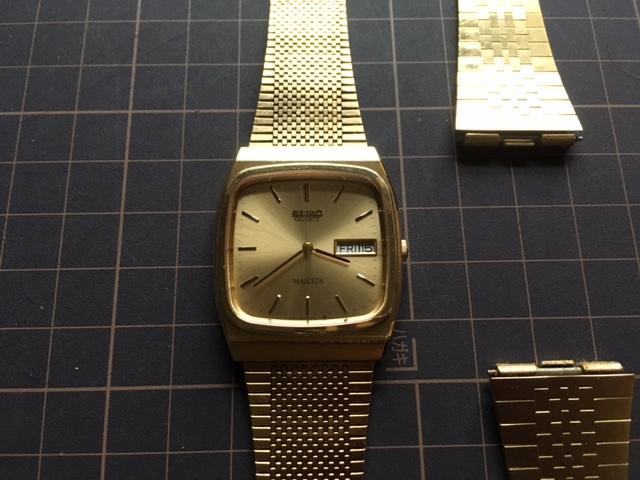 KK237 良品 稀少 レア ヴィンテージ SEIKO/セイコー MAJESTA デイデイト SGP ゴールド 9063-5010 純正ブレス有 クオーツ メンズ 腕時計_画像4