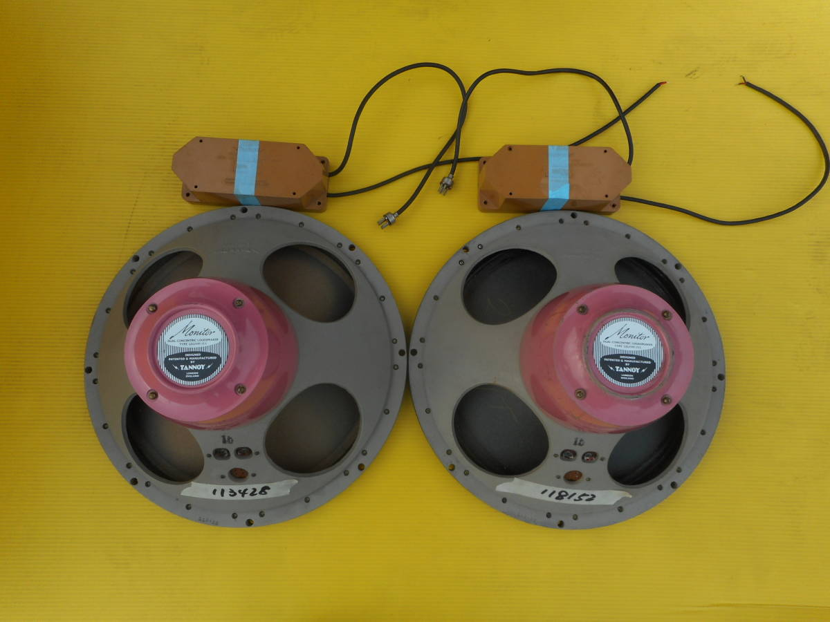 TANNOY M. RED15 X'OVER付き x 2 中古品