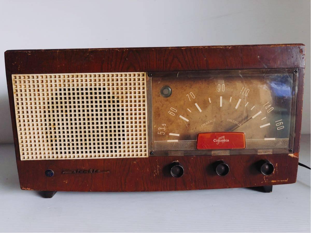 Columbia Colombia vacuum tube radio : Real Yahoo auction salling