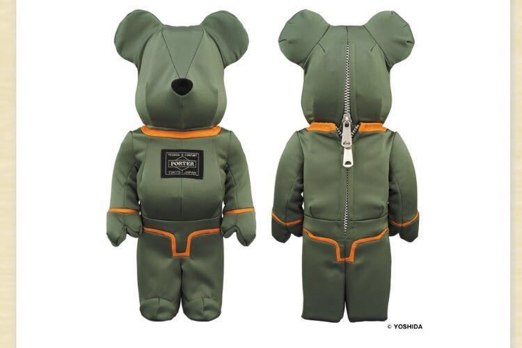 PORTER × BE@RBRICK 400% TANKER SAGE GREEN Special Edition ベアブリック 吉田カバン ポーター