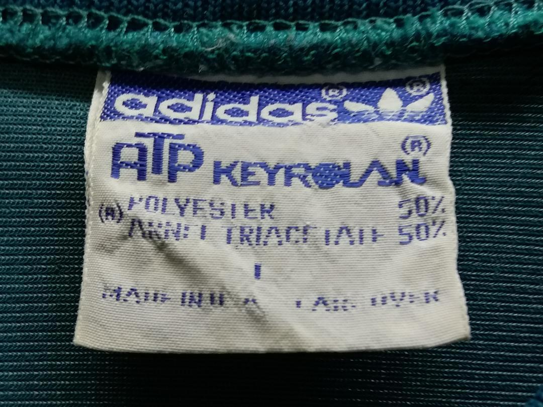 レア 80s adidas ATP KEYROLAN USA製 アディダス ヴィンテージ ジャージ グリーン 緑 シルバーグレー L ヨンス YONCE サチモス ビンテージ_画像3