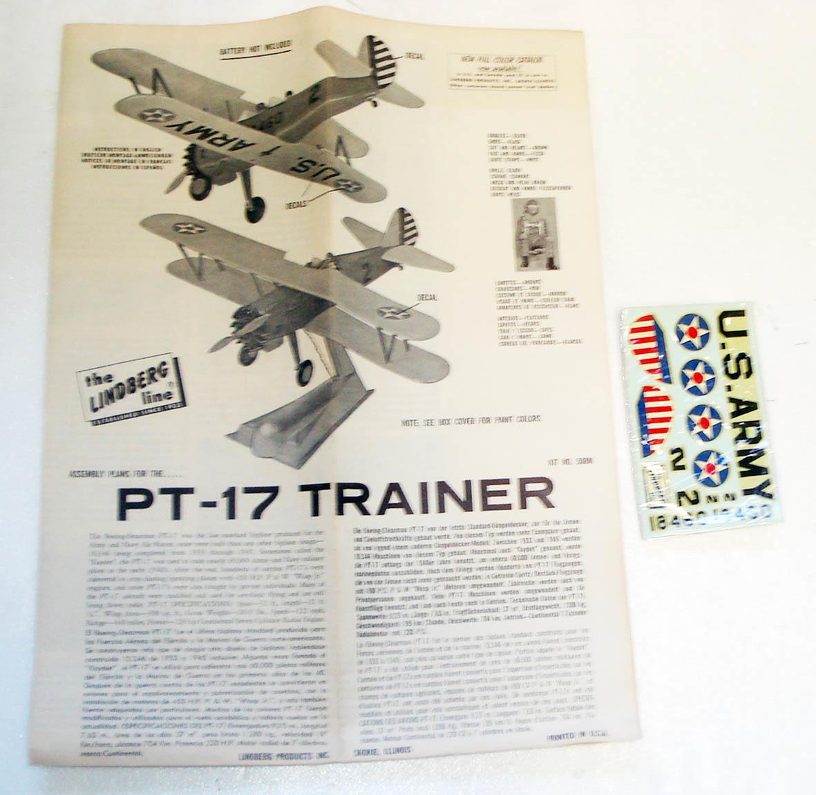 ○ LINDBERGリンドバーグ/スティアマン PT-17 ケイデット「モーターライズ」(1/48)_画像5