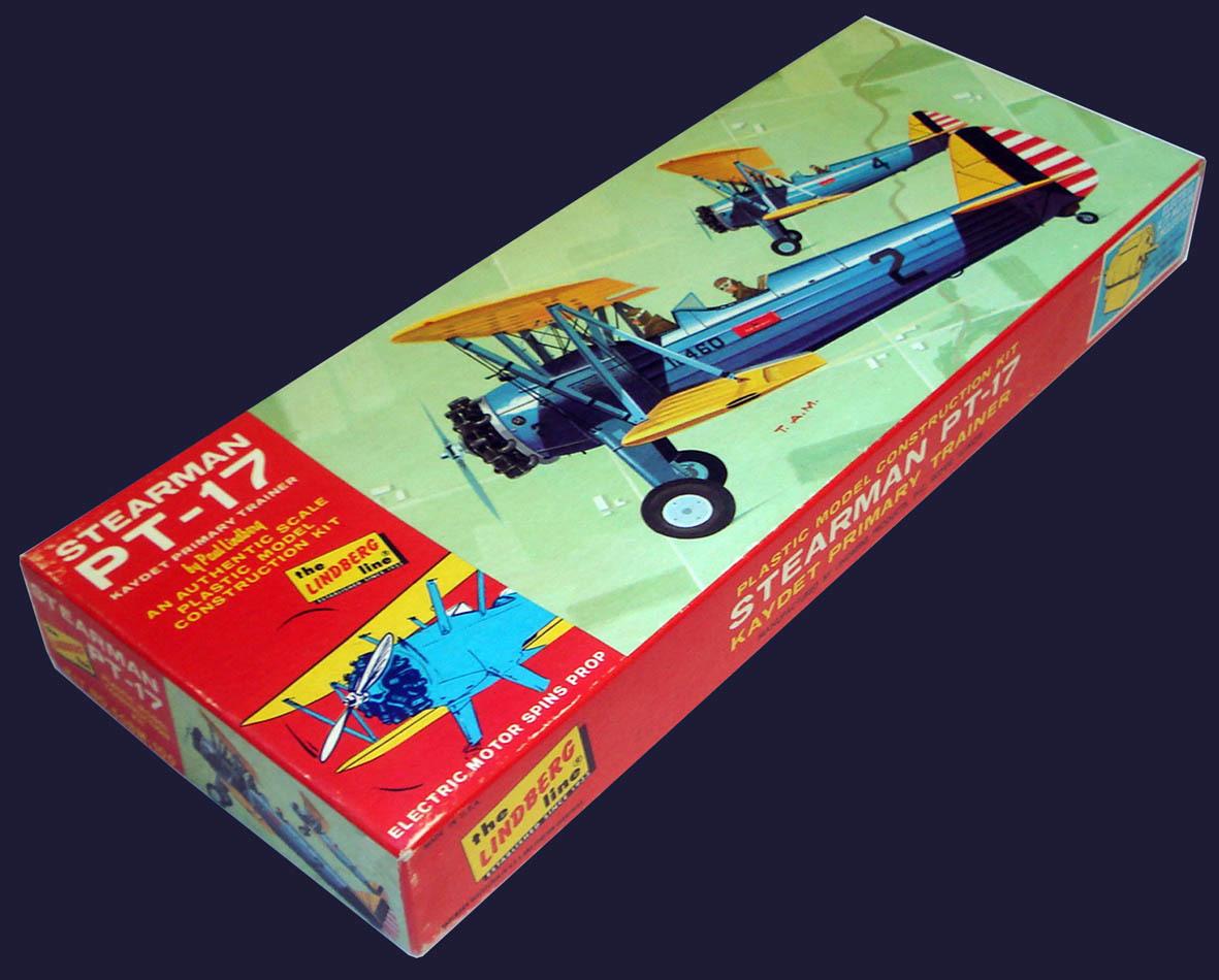 ○ LINDBERGリンドバーグ/スティアマン PT-17 ケイデット「モーターライズ」(1/48)_画像2