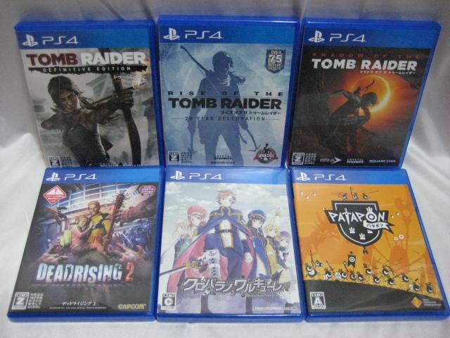 送料込!PS4ソフト「TOMB RAIDER(トゥームレイダー)」シリーズ3本含む、合計6本セット 中古_画像1