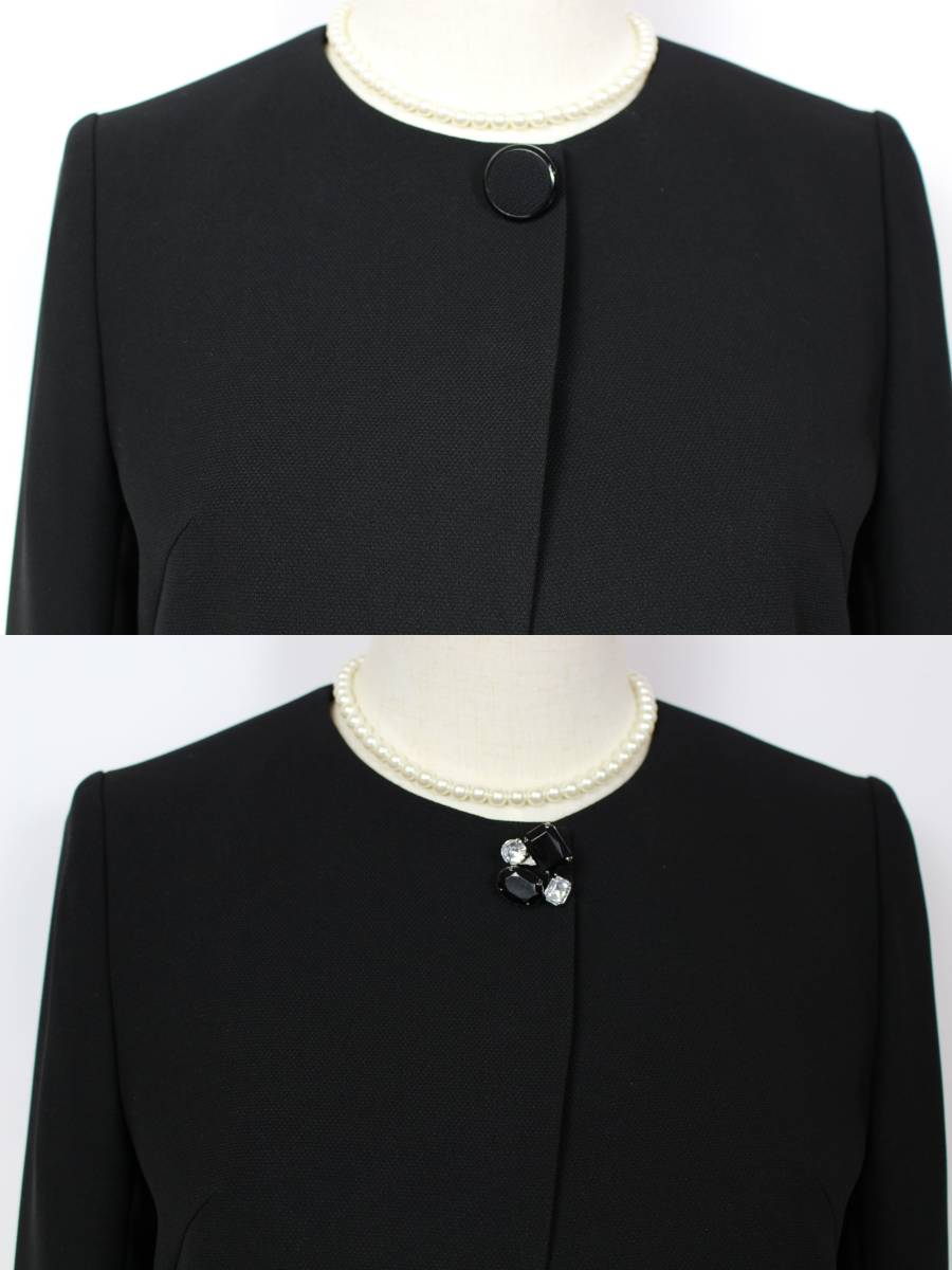 新品 5.7万円 9号 ミッシェルクラン アンサンブル ラピーヌ 卒業式 礼服 喪服 レディース 黒 スーツ ブラックフォーマル_画像10