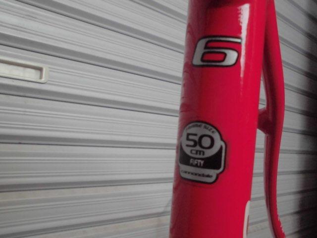 ★格安売切★cannondale/キャノンデール キャド9/CAAD9 自転車 ロードバイク レッド 軽量フレーム 50size 中古!!_画像6