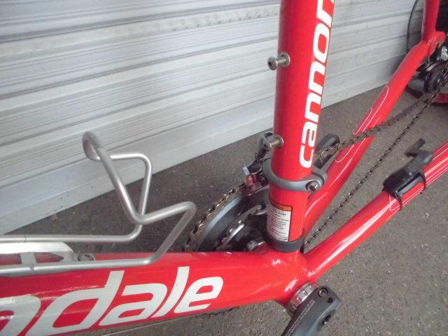 ★格安売切★cannondale/キャノンデール キャド9/CAAD9 自転車 ロードバイク レッド 軽量フレーム 50size 中古!!_画像9