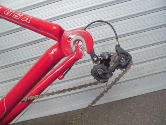 ★格安売切★cannondale/キャノンデール キャド9/CAAD9 自転車 ロードバイク レッド 軽量フレーム 50size 中古!!_画像10