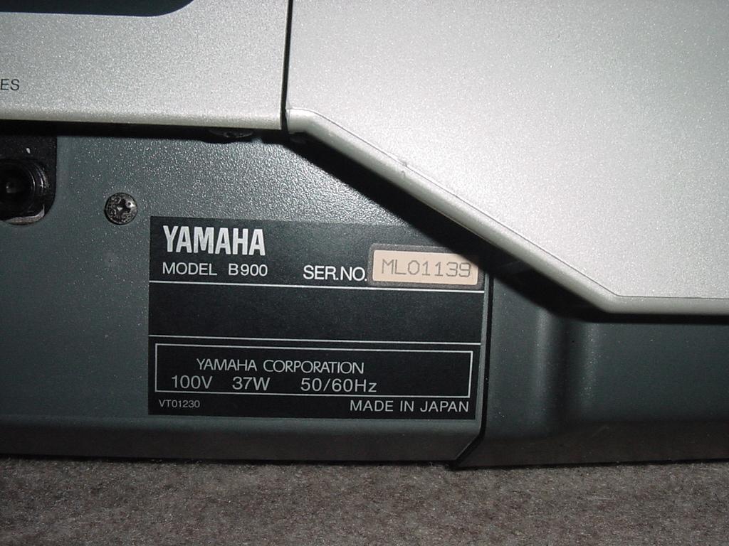 YAMAHA シンセサイザー 61鍵盤 EOS B900 難有り_画像10