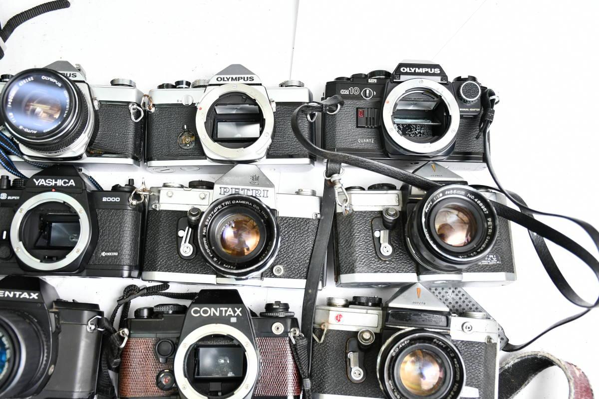 S12 #1 オリンパス ペンタックス コンタックス 等 OM20 XR500 KM Penta A3 FX-3 他 一眼レフカメラ レンズ まとめ まとめて 大量 セット_画像5